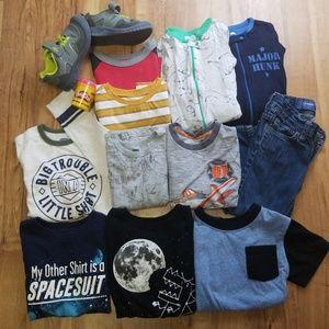 Mixed Toddler Boy Clothes Lot 3T&4T/Shoes sz 10